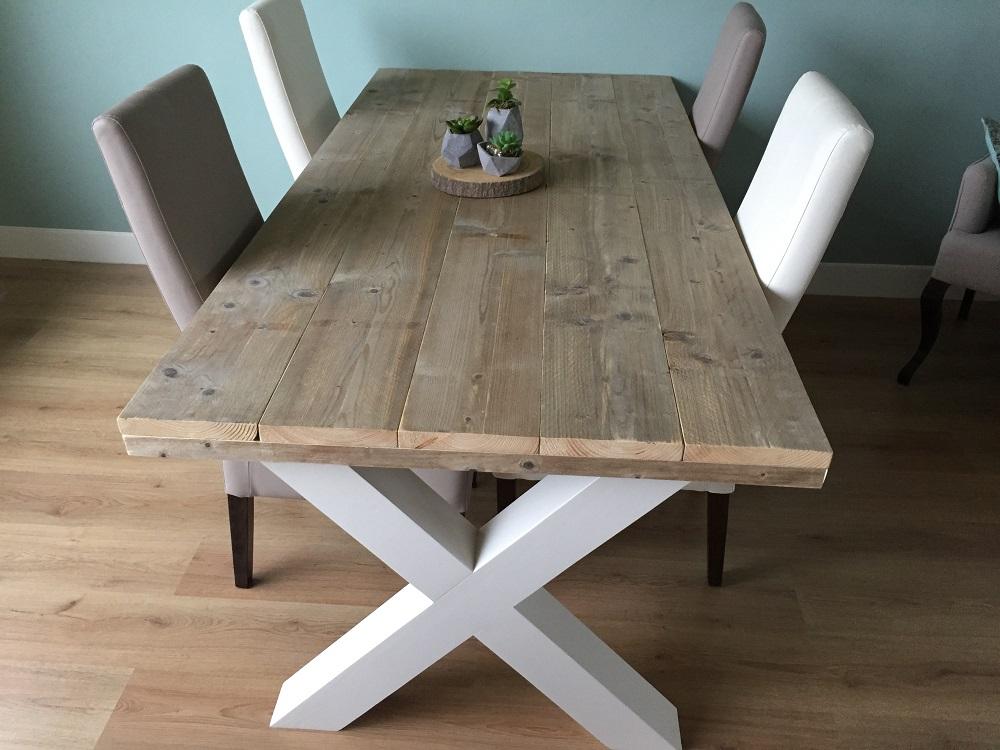 Goede Steigerhouten tafel Alderik Wit - Oldambt Meubelen OA-39