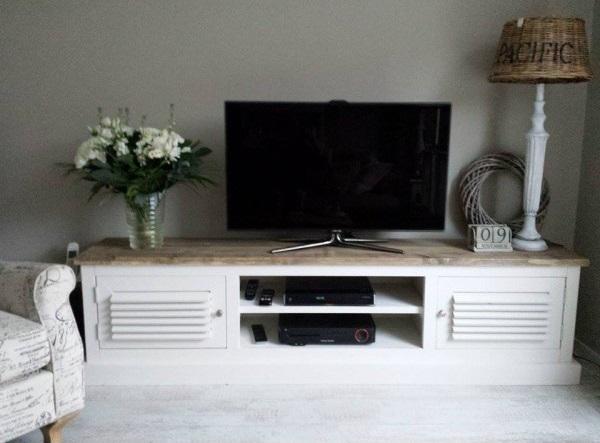 Gezocht Tv Kast.Steigerhouten Tv Meubel Tess Wit